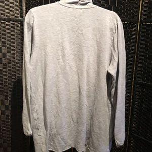 Cozy grey shawl jacket